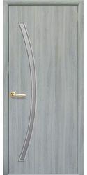 Межкомнатные двери Дива со стеклом сатин, Экошпон  Ясень патина