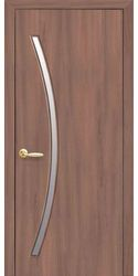 Межкомнатные двери Дива со стеклом сатин, Экошпон  Ольха 3D