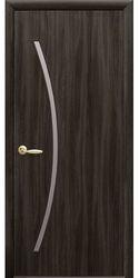 Межкомнатные двери Дива со стеклом сатин, Экошпон  Кедр