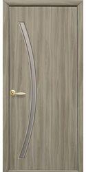 Межкомнатные двери Дива со стеклом сатин, Экошпон  Сандал
