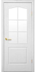 Межкомнатные двери Классик со стеклом сатин, Под покраску Структурный