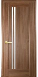 Межкомнатные двери Делла со стеклом сатин, ПВХ DeLuxe Золотая ольха