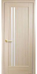 Межкомнатные двери Делла со стеклом сатин, ПВХ DeLuxe Ясень