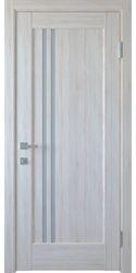Межкомнатные двери Делла со стеклом сатин, ПВХ DeLuxe Ясень New