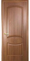 Межкомнатные двери Донна глухое с гравировкой, ПВХ DeLuxe Золотая ольха