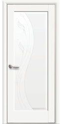 Межкомнатные двери Ескада глухое с гравировкой, Premium Белый матовый