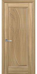 Межкомнатные двери Эскада глухое с гравировкой, ПВХ DeLuxe Золотой дуб
