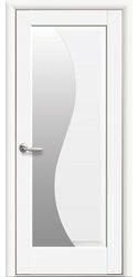 Межкомнатные двери Эскада со стеклом сатин, Premium Белый матовый