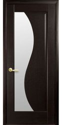 Межкомнатные двери Эскада со стеклом сатин, ПВХ DeLuxe Венге new
