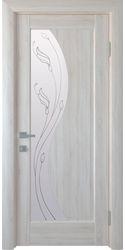 Межкомнатные двери Эскада со стеклом сатин и рисунком Р2, ПВХ DeLuxe Ясень New
