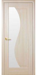Межкомнатные двери Эскада со стеклом сатин, ПВХ DeLuxe Ясень
