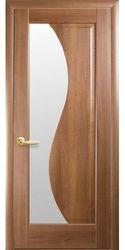 Межкомнатные двери Эскада со стеклом сатин, ПВХ DeLuxe Золотая ольха