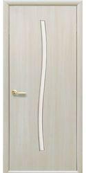 Межкомнатные двери Гармония со стеклом сатин, Экошпон  Дуб жемчужный
