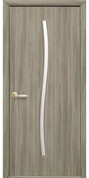 Межкомнатные двери Гармония со стеклом сатин, Экошпон  Сандал