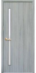 Межкомнатные двери Глория со стеклом сатин, Экошпон  Ясень Патина