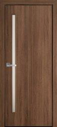 Межкомнатные двери Глория со стеклом сатин, ПВХ DeLuxe Золотая Ольха