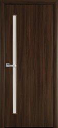 Межкомнатные двери Глория со стеклом сатин, Экошпон  Орех 3D