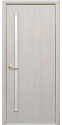 Межкомнатные двери Глория со стеклом сатин, Экошпон  Дуб жемчужный