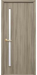 Межкомнатные двери Глория со стеклом сатин, Экошпон  Сандал