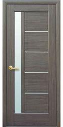 Межкомнатные двери Грета со стеклом сатин, ПВХ DeLuxe Серый