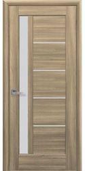 Межкомнатные двери Грета со стеклом сатин, ПВХ DeLuxe Золотой дуб