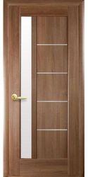Межкомнатные двери Грета со стеклом сатин, ПВХ DeLuxe Золотая ольха