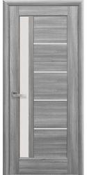 Межкомнатные двери Грета со стеклом сатин, ПВХ DeLuxe Бук Пепельный