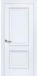 Межкомнатные двери Имидж Глухое с молдингом, Premium Белый матовый
