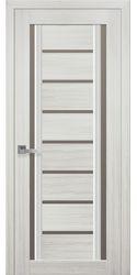 Межкомнатные двери Флоренция С2 с бронзовым стеклом, Смарт жемчуг белый