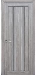 Межкомнатные двери Верона С1 с графитовым стеклом, Смарт жемчуг серебряный