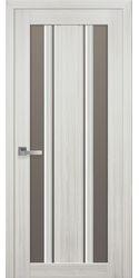 Межкомнатные двери Верона С2 с бронзовым стеклом, Смарт жемчуг белый