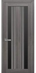 Межкомнатные двери Верона С2 с черным стеклом, Смарт жемчуг графит