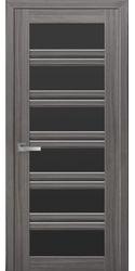 Межкомнатные двери Виченца С2 с черным стеклом, Смарт жемчуг графит