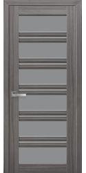 Межкомнатные двери Виченца С2 с графитовым стеклом, Смарт жемчуг графит