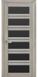 Межкомнатные двери Виченца С2 с черным стеклом, Смарт жемчуг magica