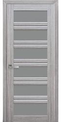 Межкомнатные двери Виченца С2 с графитовым стеклом, Смарт жемчуг серебряный