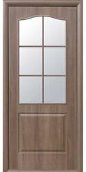 Межкомнатные двери Классик со стеклом сатин, ПВХ DeLuxe Золотая ольха