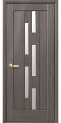 Межкомнатные двери Лаура со стеклом сатин, ПВХ DeLuxe Серый