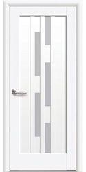 Межкомнатные двери Лаура со стеклом сатин, Premium Белый матовый