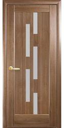 Межкомнатные двери Лаура со стеклом сатин, ПВХ DeLuxe Золотая ольха