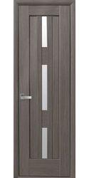 Межкомнатные двери Лаура (600мм) со стеклом сатин, ПВХ DeLuxe Серый