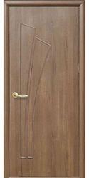 Межкомнатные двери Лилия глухое, ПВХ DeLuxe Золотая ольха