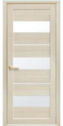 Межкомнатные двери Лилу со стеклом сатин, Экошпон  Дуб жемчужный