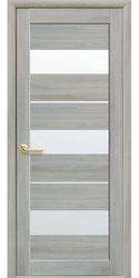 Межкомнатные двери Лилу со стеклом сатин, Экошпон  Ясень патина
