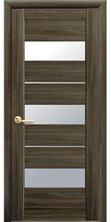 Межкомнатные двери Лилу со стеклом сатин, Экошпон  Кедр