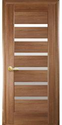 Межкомнатные двери Линнея со стеклом сатин, ПВХ DeLuxe Золотая ольха
