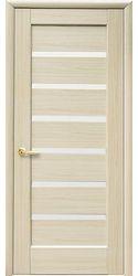 Межкомнатные двери Линнея со стеклом сатин, ПВХ DeLuxe Ясень