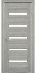 Межкомнатные двери Лира со стеклом сатин, Нано Флекс  Дуб сицилия