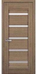 Межкомнатные двери Лира со стеклом сатин, Нано Флекс  Дуб янтарный
