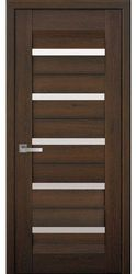 Межкомнатные двери Лира со стеклом сатин, Нано Флекс  Дуб шоколадный